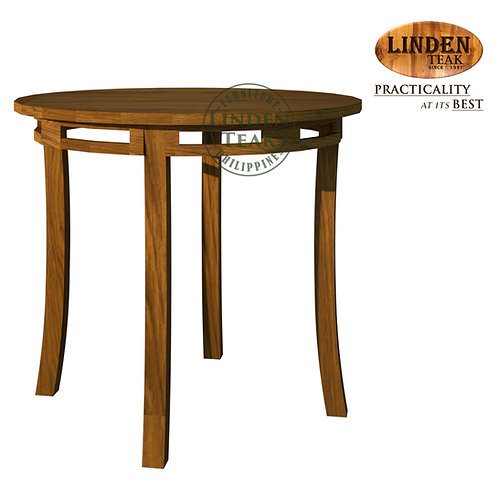 Handcrafted Solid Teak Wood Chantik Round Dining Table Furniture