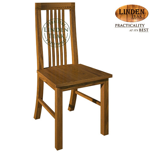 Handcrafted Solid Teak Wood 306 Chair without Arm Furniture