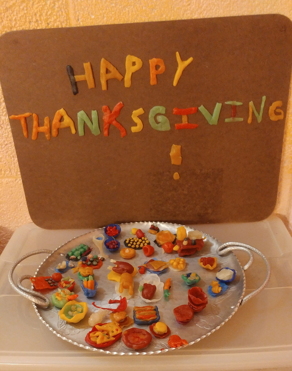 Thanksgiving Fairy Feast created in beeswax