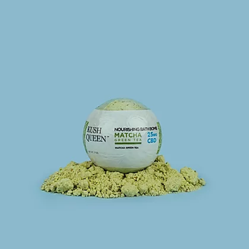 Kush Queen 'Matcha Green Tea' Bath Bomb- 25mg CBD