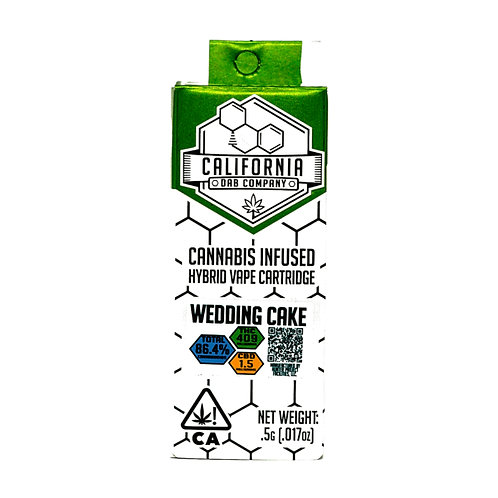 CALI DAB CO: WEDDING CAKE .5g CART