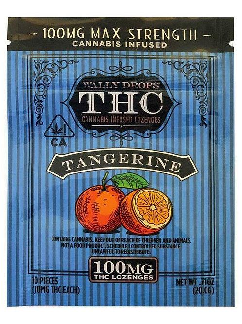 Wally Drops THC Lozenges 100mg - Tangerine