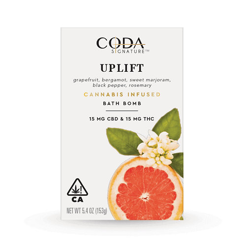CODA SIGNATURE BATH BOMBS: UPLIFT 1:1 30mg