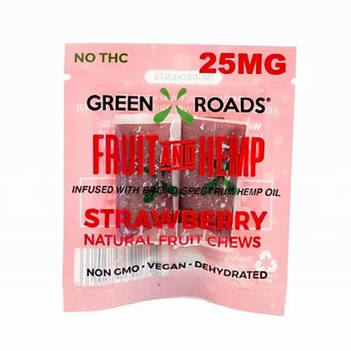 Green Roads Fruit and Hemp To Go 25 mg - Strawberry