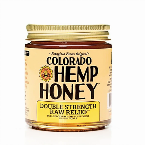 Co Hemp Honey 'Double Strength Raw' 6oz Jar- 1,000mg CBD
