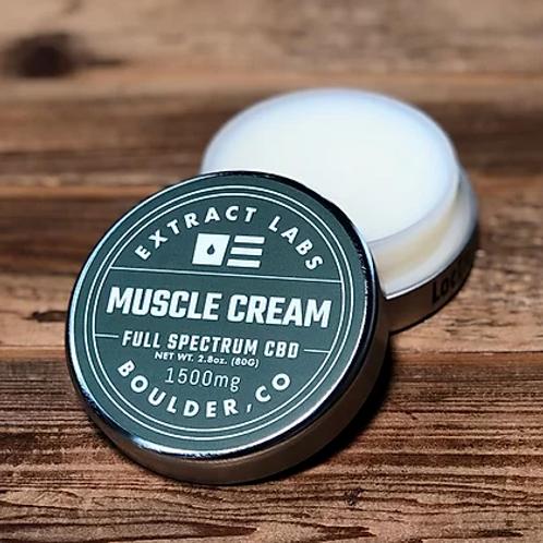 Extract Labs Muscle Cream- 1500mg CBD