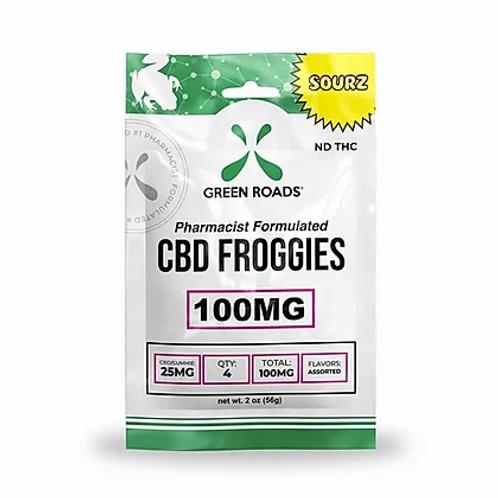 Green Roads Sour Froggies 100mg- 4ct