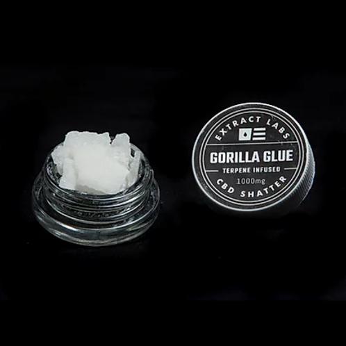 Extract Labs Gorilla Glue Shatter- 1000mg CBD