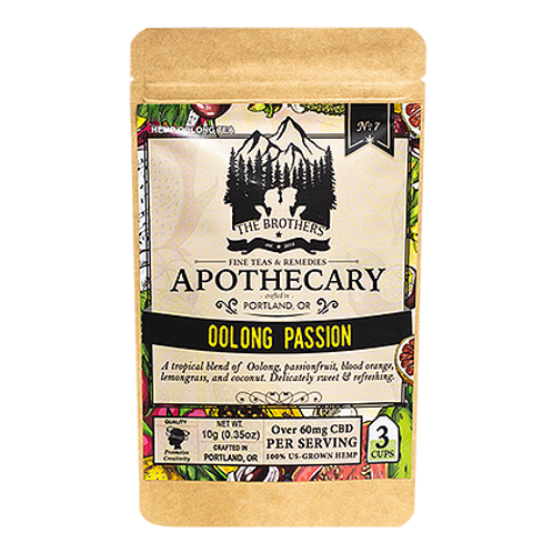 Apothecary Oolong Passionfruit Tea- 60mg CBD