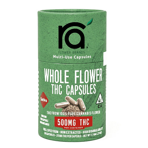 RA FLOWER: SATIVA 500MG CAPSULES