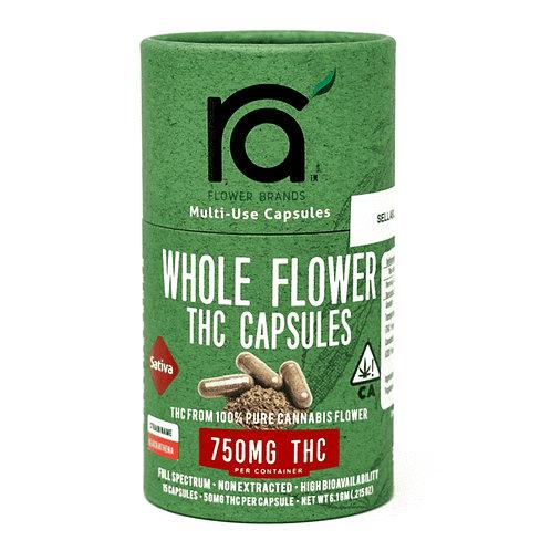 RA FLOWER: SATIVA 750MG CAPSULES