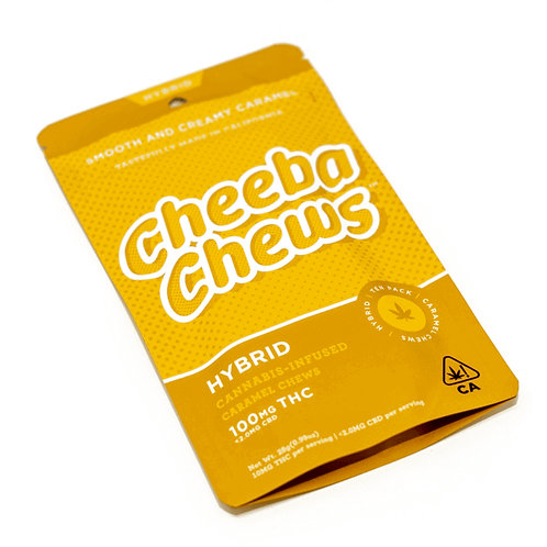 CHEEBA CHEWS: HYBRID CARAMEL 100MG