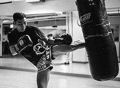 Kick Boxer in training