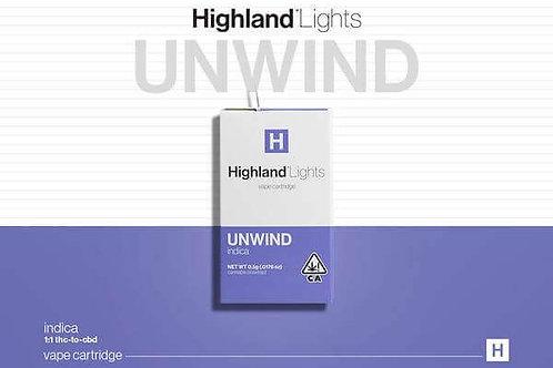 HIGHLAND - UNWIND - DOUBLE BARREL OG .5G CART (357.57MG)