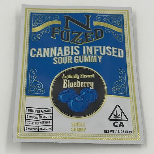 Blueberry Single Sour Gummy by Nfuzed