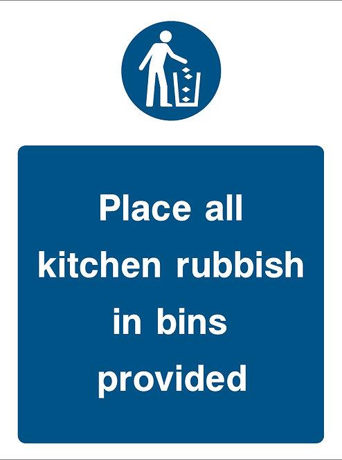 Use Rubbish Bins Provided (Food0015)