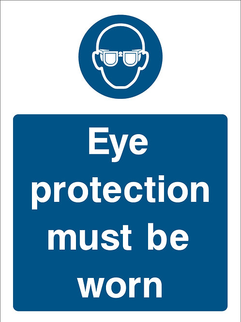 Eye Protection Must Be Worn (PPE0028)
