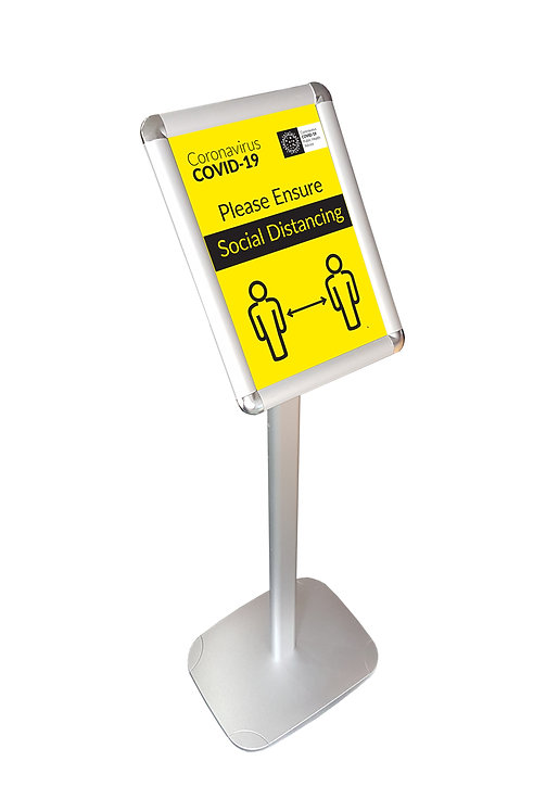 Freestanding Aluminium Customer Advice Sign - COLLECTION ONLY