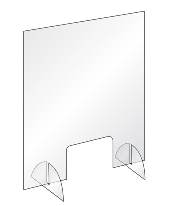 Freestanding Desktop Counter Safety Polycarbonate Screen - Collection Only