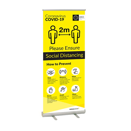 Social Distancing COVID-19 Rollup Banner