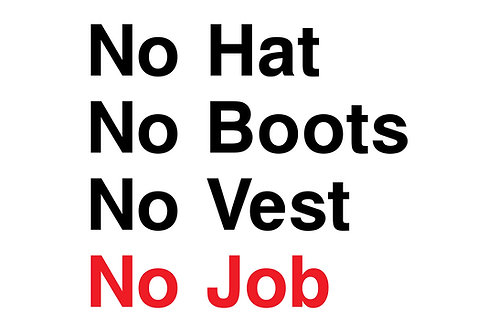 No Hats Boots Vest Job