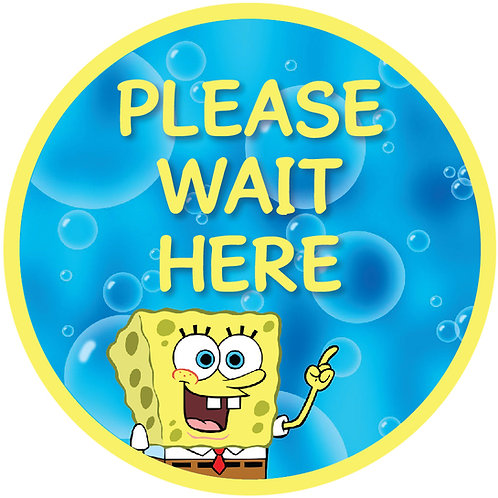 Kids' Friendly Spongebob Please Wait Here Floor Graphic