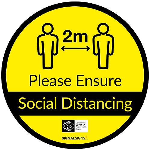 Please Ensure Social Distancing Floor Graphic