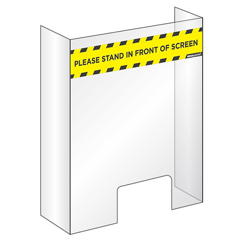 Universal Counter-top Protective Safety Perspex Screen - Collection Only