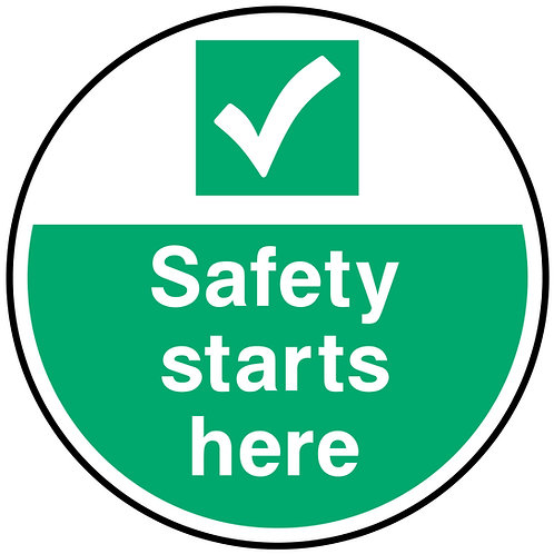 Safety Starts Here Floor Graphic 300mm x 300mm (Floo0020)