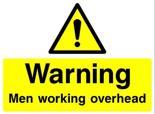 Warning Men Working Overhead