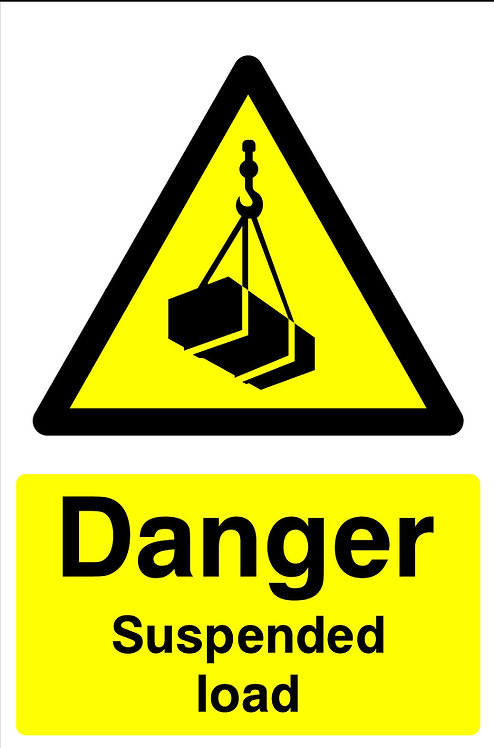 Danger Suspended Load
