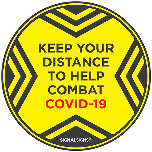COVID-19 Keep Your Distance Floor Graphic 300mm x 300mm