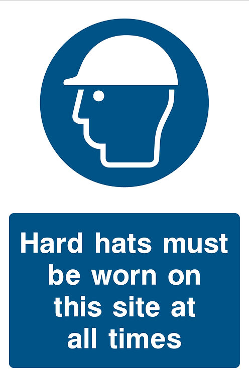 Hard Hats Worn At All Times