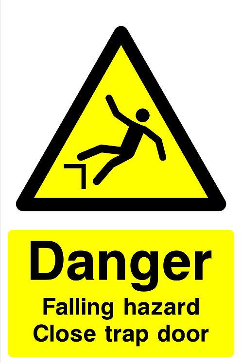 Danger Falling Hazard