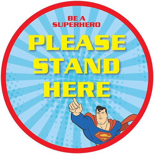 Kids' Friendly Superman Please Stand Here Floor Graphic