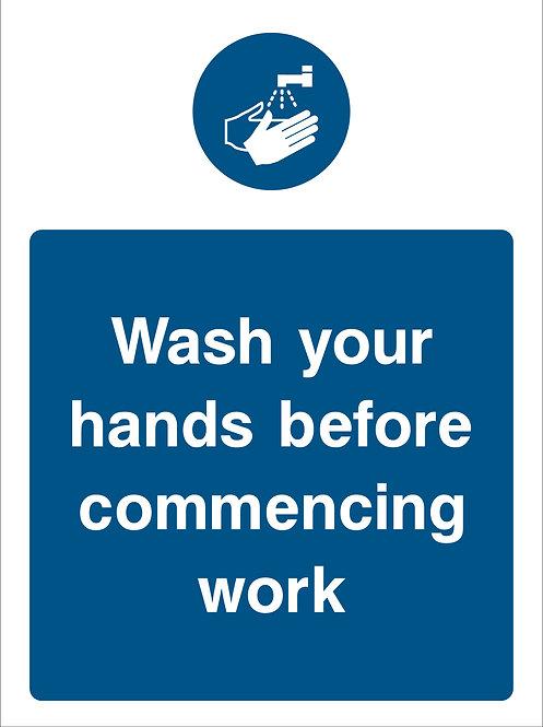 Wash Hands Before Work (Food0001)