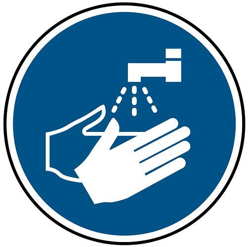 Hand Wash Symbol Floor Graphic 300mm x 300mm (Floo0005)
