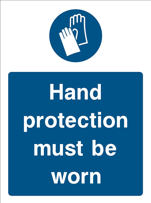 Hand Protection Must Be Worn (PPE0026)
