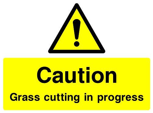 Caution Grass Cutting
