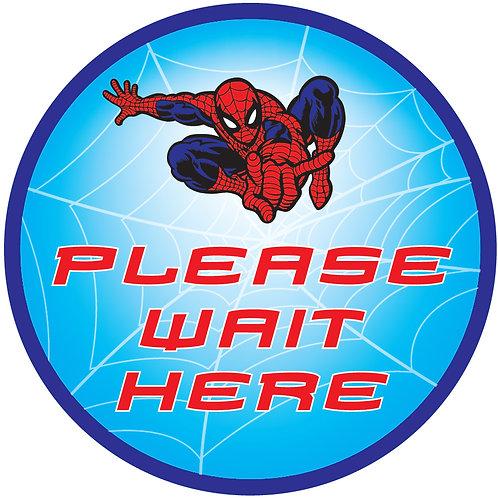 Kids' Friendly Spiderman Please Wait Here Floor Graphic