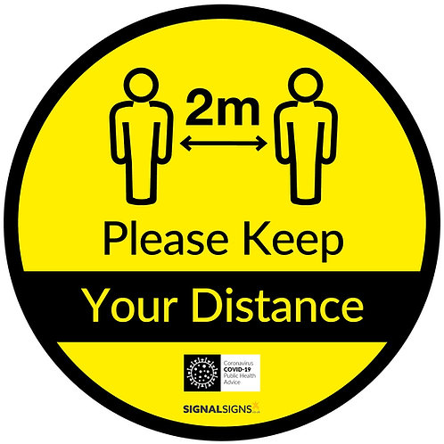 Please Keep Your Distance Floor Graphic
