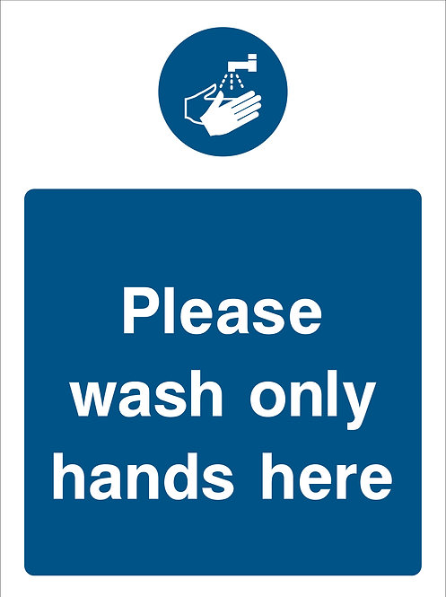 Please Wash Hands Here (Food0002)