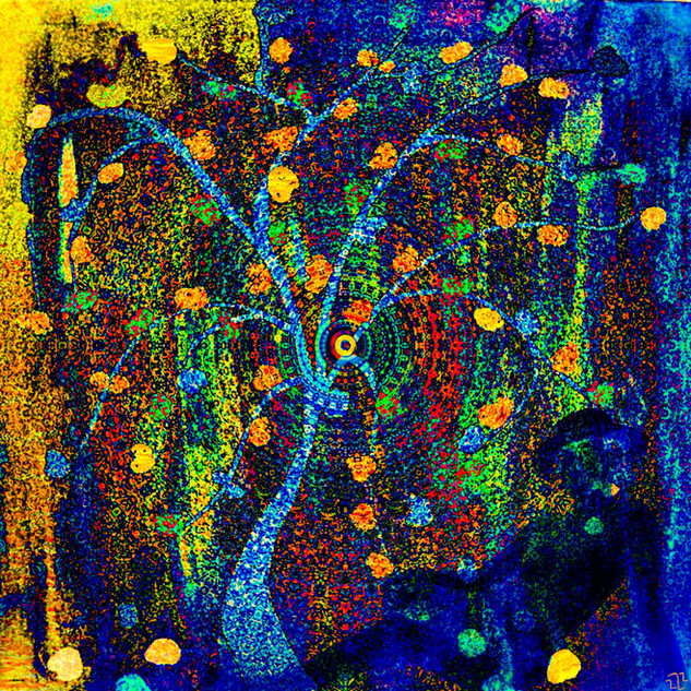 L'arbre et la femme en bleu