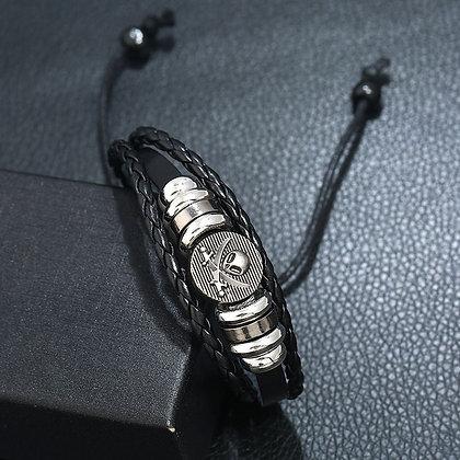 Bracelet En Cuir De Vache Crâne