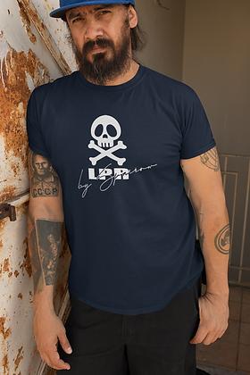 T-shirt crâne LPR by Sparrow bleu navy