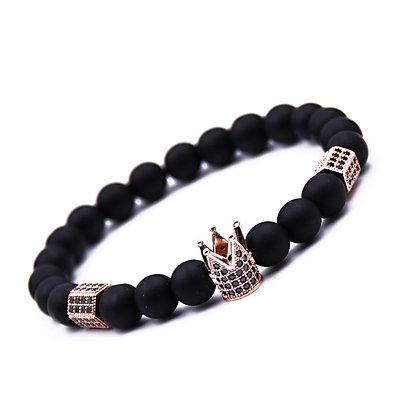Bracelet En Pierre Naturelle (couronne Noire et accessoirement)