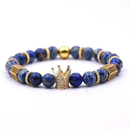 Bracelet en Pierre Naturelle bleu roi