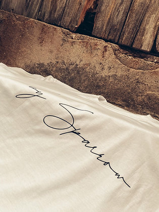 t-shirt blanc by Sparrow couronne or