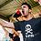 Thumbnail: T-shirt crâne LPR by Sparrow bleu navy