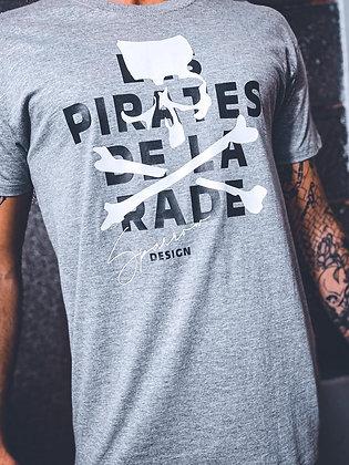T-shirt gris crâne Sparrow design